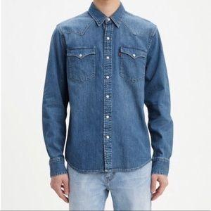 Men's Levis Classic Western Snap Front Shirt